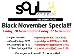Soul Cycle Studio George Black Friday Special