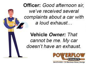 Powerflow Officer No exhaust