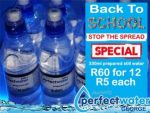 Back to School Bottled Water Special in George