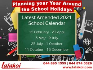 Planning your Year around the School Holidays