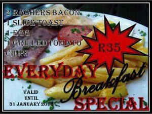 Everyday Breakfast Special in Mossel Bay