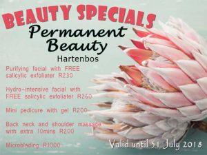 Permanent Beauty Specials July 2018