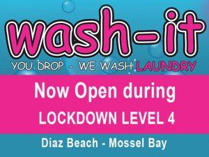 Wash-it Laundromat Open during Lockdown Level 4