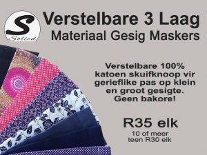Beskermende Materiaal Gesig Maskers