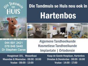 Die Tandmuis se Huis nou ook in Hartenbos