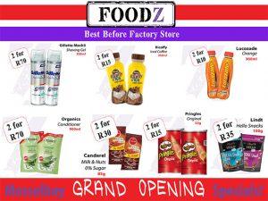 Foodz Mossel Opening Specials