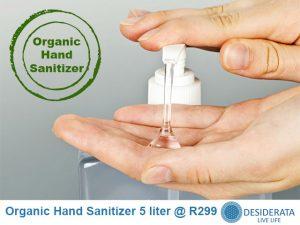 Organic Hand Sanitizer in George