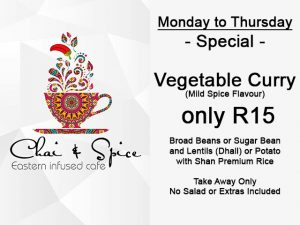 Vegetable Curry Take Away Special in George