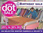 Fabric World George Pink Dot Sale