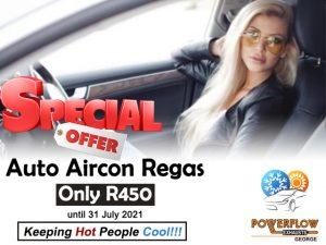 Auto Aircon Regas Special at Powerflow George