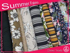 New Summer Fabrics at Fabric World George